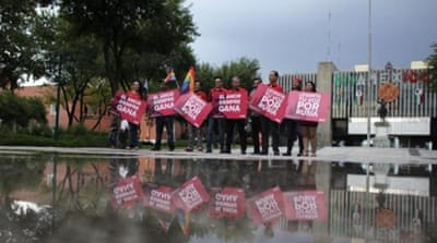 Sochi 2014 has brought media attention on recent 'anti-gay' laws legislated by the Russian government [AFP]