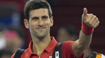 World number two Djokovic serves up a champion display against Spain's Marcel Granollers in China [AP]