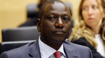 William Ruto sits in the courtroom of the International Criminal Court (ICC) in The Hague, Netherlands. [AP]