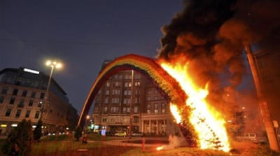 Burning down a rainbow in Poland