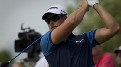 Slice of heaven: Stenson will finish top of the European money list if he wins in Dubai [AP]