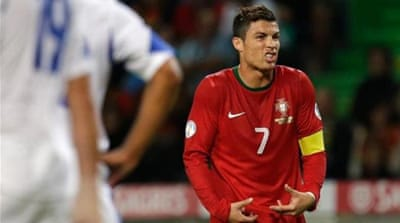 Contrary to popular belief, Ronaldo, left, won't be facing Sweden on his own [EPA]