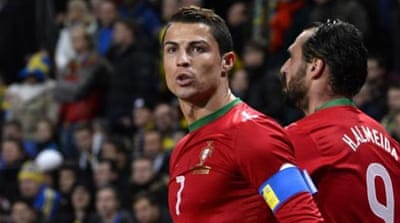Ronaldo showed his class by scoring all four of Portugal's goals over the two legs [AFP]
