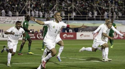 Bougherra's goal in Blida ensured Algeria qualified for their second straight World Cup [AP]