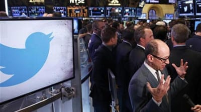Twitter stock price surges in opening trade