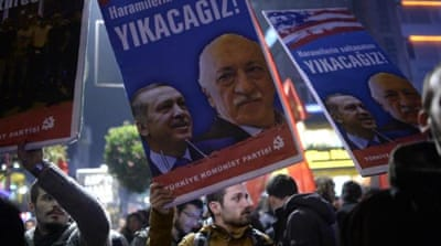 Turkish PM Erdogan is trying to dismantle parts of Fetullah Gulen's Hizmet Movement [AFP]