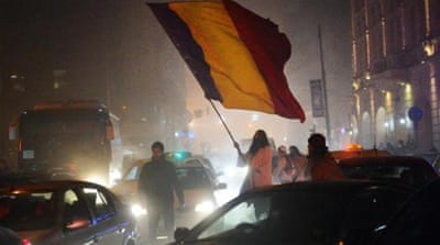 A disillusioned Romanian populace have taken to the streets to protest against the latest government measures to gain special immunity [AFP]