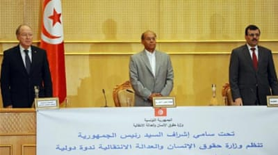 The Tunisian president's new book may undermine the transitional justice process [AFP]