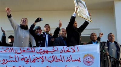 Trade unions have been active in Tunisia's protest movements and are seen as a rallying point for secularists [AFP]