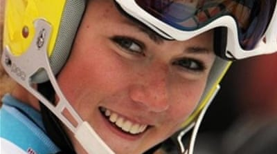 Shiffrin won first race of her career in Are in December, on the same day Marlies Schild was injured [Reuters]