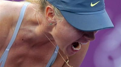 Sharapova can become world number one if both Azarenka and Williams stumble in tournament [AP]