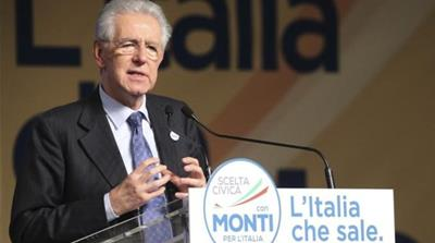 Italian Prime Minister Mario Monti is still 'very far from winning elections' that are to be held on February 24 - 25 [AP]