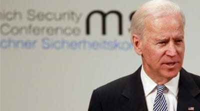 "US Vice President Joe Biden referred to Europe as ""America's indispensable partner of first resort"" [AP]"