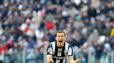 Swiss international Stephan Lichsteiner was on form for Juventus and scored the opener [AP]