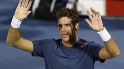 World number seven Del Potro (pictured) battled past tricky customer Baghdatis in opening round [Reuters]