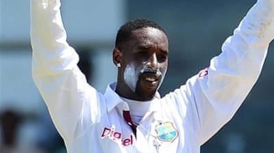 Bowler Shane Shillingford is making his mark after only nine Tests for the Windies [AFP]