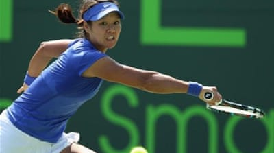 Li Na of China will meet Danish ninth seed Caroline Wozniacki in the last 16 stage [Reuters]