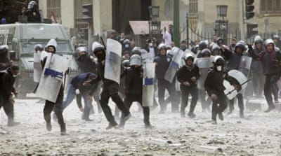 Constant protests since the revolution in 2011 have left police officers in Egypt exhausted and angry [AFP]