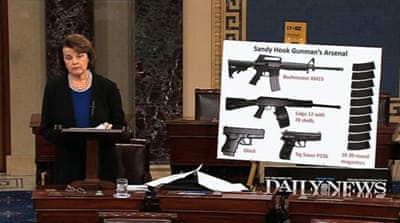 The US Senate at work: Defeating background checks for gun purchases
