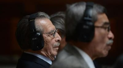 Former Guatemalan dictator Jose Efrain Rios Montt is standing trial on charges of genocide [AFP]