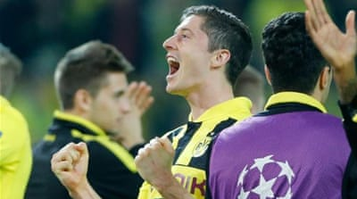 Is Robert Lewandowski (C) the next player on Bayern Munich's impressive hit-list? [AP]