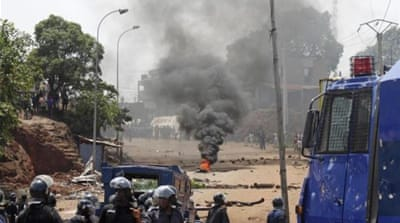 Guinea opposition protest turns violent