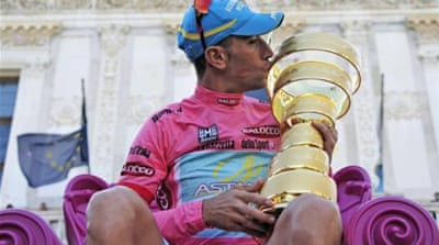 The last stage of the Giro was a procession with Nibali already wrapping up the race with giant lead [EPA]