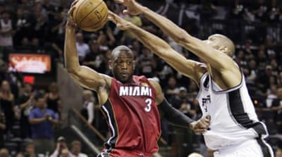 Miami need to win on the road against San Antonio - who have only one loss in seven playoff games at home [AP]