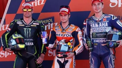 Pedrosa's lap beat previous record at Montmelo set by Casey Stoner in 2008 [Reuters]