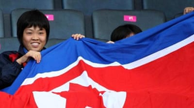 North Korean athletes enter Olympic Stadium in 2012 but nation did not take part in 1988 Seoul Games [AP]