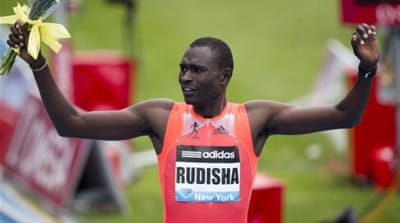 Rudisha (R) is one of Kenya's best hopes of gold after dominating his field over last year [GALLO/GETTY]