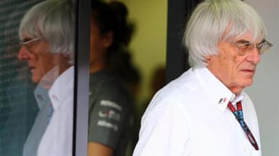 F1 supremo Bernie Ecclestone arrives to testify in the trial against banker Gerhard Gribkowsky [Reuters]