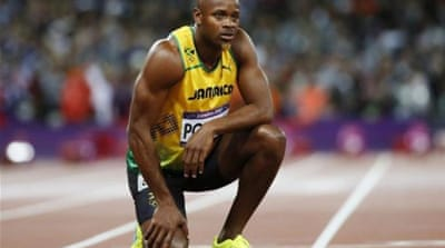 Jamaica's Sherone Simpson and Asafa Powell were both given supplement advice by Xuereb [AFP]