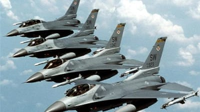 The four F-16 fighter jets are part of a previously arranged sale of 20 planes [Reuters]