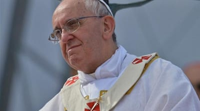 Pope says gay people must not be judged