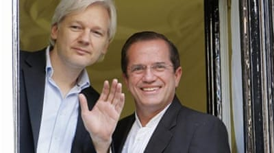 WikiLeaks founder Julian Assange  has been staying in the Ecuadorian embassy in London for a year [Reuters]
