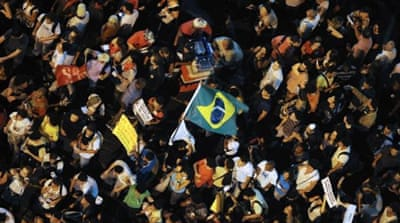 Brazil protesters keep up the pressure