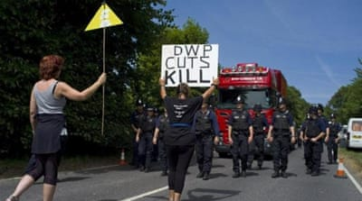 Demonstrations have been rallying against energy extraction in rural England for the past week  [Reuters]