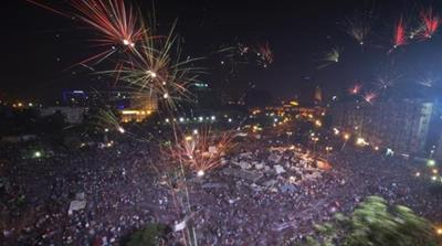 The fireworks may be premature for Egyptians who face tremendous political uncertainty after a swift military-led removal of Mohammed Morsi [AFP]