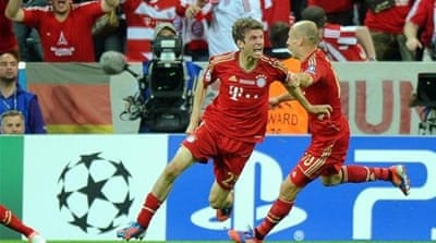(L-R) Bastian Schweinsteiger, Arjen Robben and Thomas Mueller are all up for the award [Reuters]