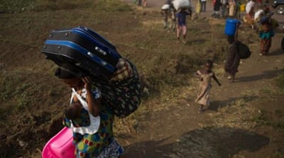 Fighting around Goma has forced 6,000-7,000 people to flee their homes since July 14, UN says [AFP]