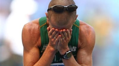 Heffernan celebrates after giving Ireland a long-awaited win at world championships [AP]