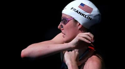 Missy Franklin (L) has already won two individual and two team golds in Barcelona [Reuters]