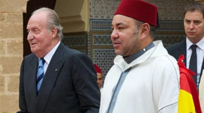 Morocco's King Mohammed VI (right) met with Spain's King Juan Carlos I on July 16 [GALLO/GETTY]