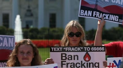 Americans protest against fracking