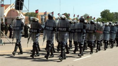 The police force is made up of former rebels who fought Sudanese forces in the  1983-2005 civil war [EPA]