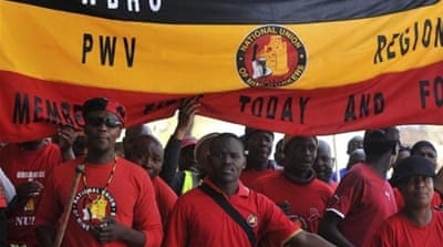 The NUM is seeking 60 percent wage increases while the Chamber of Mines made an offer of 6.5 percent [Reuters]