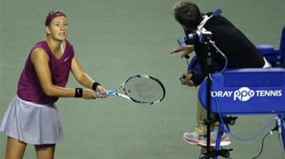 Williams said that her rival Azarenka was out of sorts during clash in Tokyo [AFP]