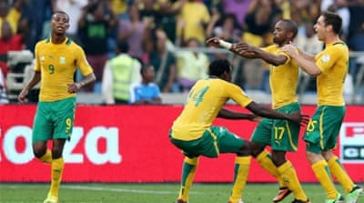 South Africa put four goals past Botswana but finished two points behind Ethiopia in Group A [GETTY]