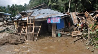 Heavy rains predicted to continue for two to three days, primarily in areas hit hard by Typhoon Haiyan [EPA]